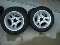 "Chevy 15"" wheels. Good tread and good rims. Bolt"
