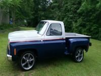 Restored 1978 step side pickup .  I changed all front