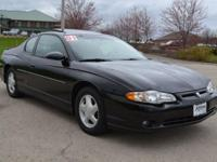 2001 CHEVY MONTE CARLO SS.....BLACK OVER BLACK WITH