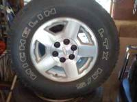 For sale are 17 inch wheels with tires, 6 lug. will fit