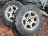 there were on our 1991 chevy 1500 we just have 2 wheels