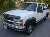 1995 Chevy Suburban LS 1500 4x4. White with gray cloth