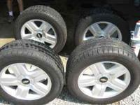"Real nice set of original GM Chevy 20"" wheels and tires"
