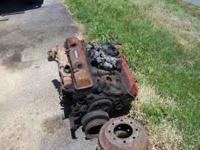 chevy 350 good rebuildable 4 bolt main motor all there