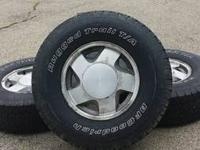 Chevy 6 lug rims and tires. Under excellent use must