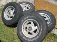these are off a full size chevy van 1998 . they are 5