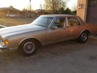 I have a 1986 Chevy Caprice Classic Brougham for sale.