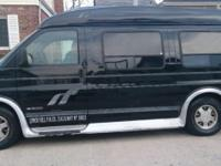 2000 Chevy tiara conversion van black with grey leather