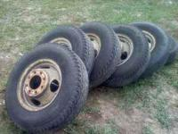 For sale I have a 6 dually truck tires they come off of