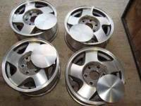 "These are the factory aluminum 16"" alloy wheels off a"