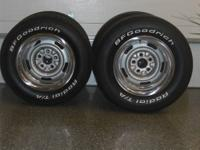 Chevrolet rally wheels with beauty rings plus center