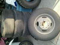 "I had these tires on a 90""s chevy3500 selling 7 rims"