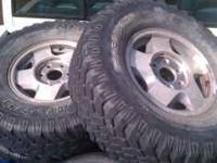 I have 4 rims and 285/75/16 tires offer a chevy. Have