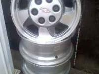 Stock set of four (4) rims, no tires, center hubs