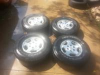 Chevy Silverado rims and tires 6 lug. 265/75/r16 all