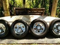Set of four used 2003 Chevy Silverado eight-lug rims