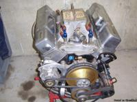 This is a 370 cu in sbc 23 degree engine built by