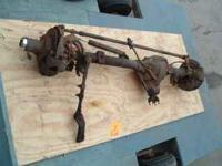 This is a complete front axle out of a suburban. The