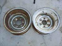 "I have a pair of Old 6 lug 15"" Rims & Hubcaps. $100 for"