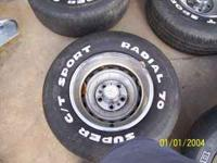 HAVE SET OF 4 FIVE LUG CHEVY TRUCK RALLY'S WITH CENTERS