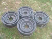 "Four 16"" 8-hole Chevy rims.  Good condition."