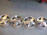 "set of 4 factory 16"" aluminum chevy truck wheels"