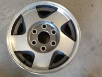 Set of four 16X7 Z71 wheels, NO LUG NUTS OR CENTER