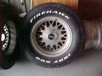 for sale is a used set of alum. wheels. nice shape,