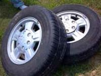 i have a full set of 4 chevy wheels with tires on them