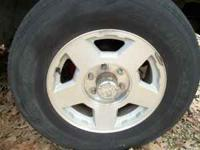 "set of 4 chevy Z-71 17"" 6 lug wheels. all wheels are in"