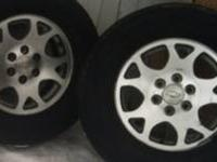 "GM OEM 17"" Aluminum Honey Cone Style Wheels, 5 large"
