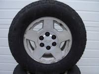 i have one set of four  6-LUG chevy wheels and tires