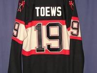 #19 with tags. Chicago Black Hawks NHL Jersey - TOEWS.