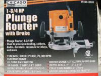 Chicago Electric 1 3/4 hp 11 amp 20,000 RPM plunge