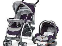The aluminum frame Cortina stroller comes loaded with