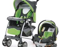 The Chicco Cortina Travel System Stroller in Midori