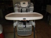 Chicco high chair in ideal condition. Still have manual