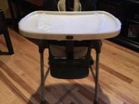 Chicco highchair adjustable. Lays down for baby or