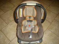 USED BUT IN GOOD CONDITION CHICCO INFANT CAR SEAT,COLOR