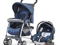 The Chicco Cortina Travel System Stroller in Azura