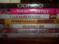 there is 6 dvds and one guy dvd congo dvd the breake-up