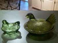 I have 2 chicken candy dishes for sale both old.