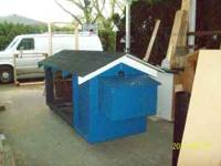"9' 6""L x 44""W x 48""T will hold up to 4 chickens,"