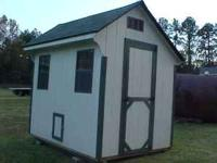 i have here a 6x8 hen house , it has a chicken door