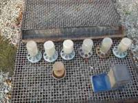 For sale one 4' long feeder,6 mason jar chick feeders,1
