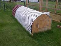chicken tractor holds about 6 chickens, includes
