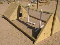 Beautiful, movable chicken coop A safe, and easy way to