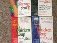 Set of 4 books: Chicken Soup for the Soul A 2nd Helping