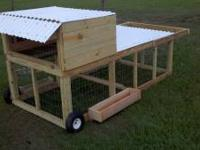 Chicken Tractors-Portable chicken pens on wheels that