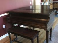 "Great sounding Chickering 6'5"" mahogany grand piano"